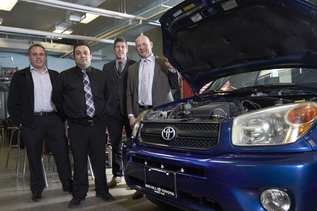 Red Hill Toyota Scion donates a used RAV4 to Saltfleet Highschools automotive program